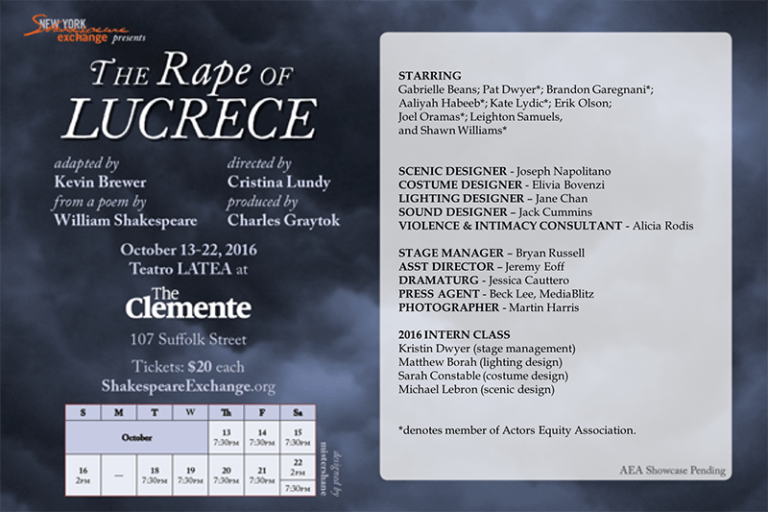 Lucrece with Credits
